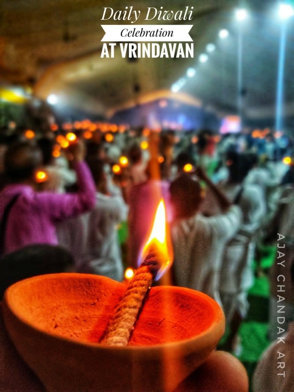 Daily Diwali at Vrindavan, India