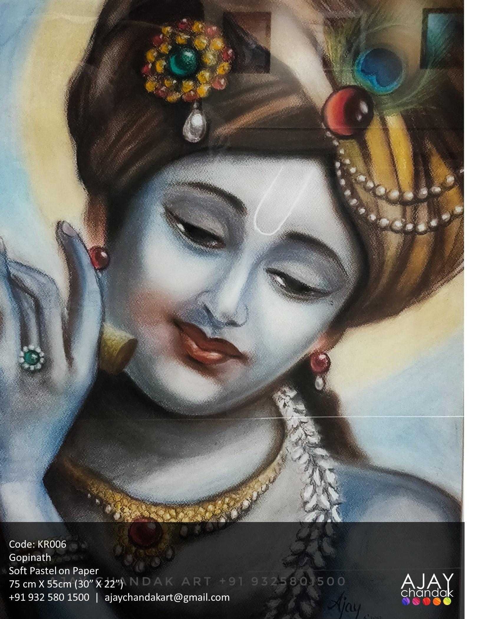 KR006 - Ajay Chandak Art Krishna Painting Series